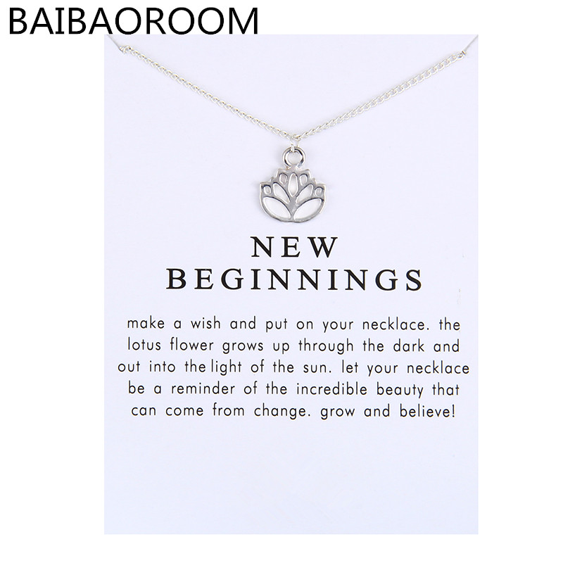 Reminders New Beginnings Rising Lotus Pendant Necklace For Women