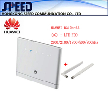Unlocked Huawei B315s-22 150Mbps CAT4 4G cpe wifi router 3g 4g mifi CPE wireless Router +2pcs antenna PK HUAWEI B593 B310(China)