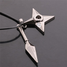 Japan Anime Naruto Necklace/Personality Darts Dagger Necklaces 50cm Leather Chains for Men