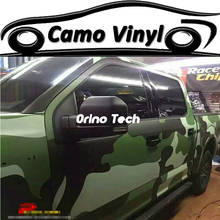 Matte/Glossy Finish Military Camouflage Wrap Vinyl Army Green Snow Camouflage Car Wraps Film Sticker With Air Free Bubble