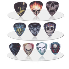 SOACH 10pcs 0.71mm skull human skull quality two side earrings pick DIY design Guitar Accessories  pick guitar picks