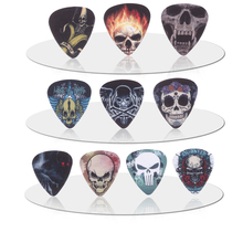 SOACH 10pcs 0.71mm skull human skull quality two side earrings pick DIY design Guitar Accessories pick guitar picks(China)