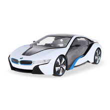 RC Cars 49600-11 27MHz RC 1/14 I8 with Interior Light Radio Remote Control Sport Racing Model Car Parts Boys Kids' Gifts