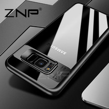 ZNP Silicone Phone Cases for Samsung Galaxy S8 S8 Plus Transparent PC & TPU Slim Case for Samsung S8 Plus S8 Cover Case Coque