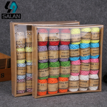 New Rafi double-strand fine paper rope children's hand-woven DIY production materials gift packaging kindergarten painting produ(China)