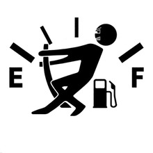 10CM*14CM Funny Car Stickers High Gas Consumption Decal Fuel Gage Empty Stickers Vinyl JDM Car Stickers Car Styling(China)