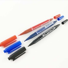 1 pcs Paint Marker Pen Office Stationery Waterproof Ink Double Oily Marker Pens 3 Color Available