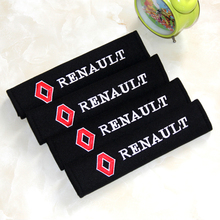 4pcs Free shiping Seat belts all cotton case for Renault duster megane 2 logan renault clio
