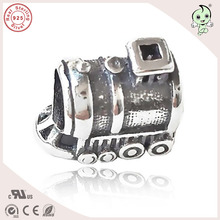 Delicated Popular High Quality Travel Theme 925 Authentic Silver Train Charm Fitting Bracelet(China)