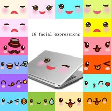 Hot Sale Design 16 Facial Expression Decal Vinyl Removable Bathroom Toilet Seat Wall Sticker Furniture Home Decor Vc32001