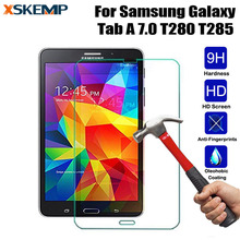 9H Anti-Shatter Screen Protector Film For Samsung GALAXY Tab A 7.0 T280 T285 0.3MM Tempered Glass No Fingerprint Guard Tablet HD(China)