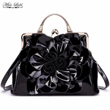 Buy 1 Get 1 at 50% Off Miss Lulu Floral Women Handbags Big Flower Luxury Female Shoulder Bag High Quality Tote Bags Bolsa LG1754(China)