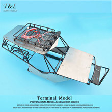 1/10 Body RC Axial Wraith All Metal Frame Body Roll Cage With Roof Rack And Alloy Sheets(China)