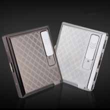 Fashion stainless steel with USB charging lighter 20 pcs cigarette case Creative personality Men USB lighter cigarette case(China)