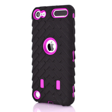 For Ipod Touch 6 6G 6th 5 5g 5th Ipod6 Ipod5 Shockproof  Tire tyre Hybrid Layer Case Hard Plastic+Soft Silicone Skin 200PCS