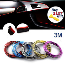 3M/Lot Car Styling Auto DIY Decoration Thread Sticker Case For Chevrolet Fiat Lada Lexus Mitsubishi Nissan Opel Jeep Car-Styling