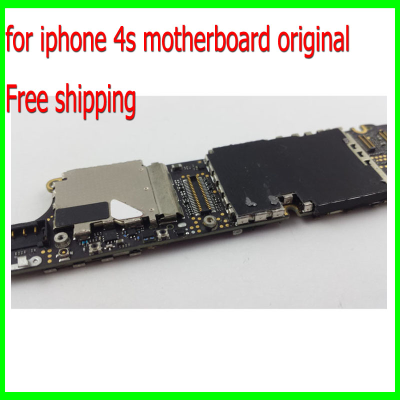 100% Test Well and Good Working for iphone 4s Mainboard,16G Original Unlocked for iphone 4s Motherboard with Chips Free Shipping(China (Mainland))