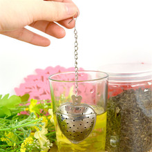 Heart Shaped Stainless Steel Tea Infuser Strainer Filter Chain Novelty Love Gift(China)