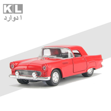 KL Children Gift 1:32 Scale Metal Classic Alloy Pull Car With Light And Music Retro Boy Mini Toy Cad Ford Model Four Color 4A#