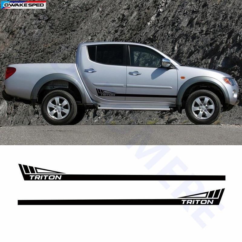 Decal Graphic Vinyl Side Stripe Kit for Mitsubishi L200 Warrior Triton Off Road
