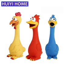 Huiyi Home Funny Dog Toys 3 Kinds Rubber Screaming Chicken Duck Pet Squeaker Toy Chew Training Pets Products ENE027(China)