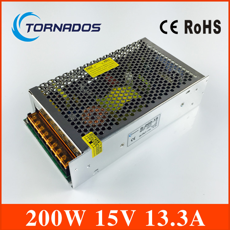 (S-200-15)DC 15V 13.3A 200W Switch Power Supply Driver 15v 200w power supply For LED Strip Light Display<br>