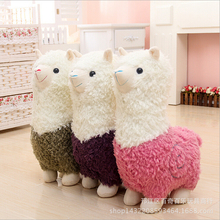 1pcs  25 or 35cm Hot cartoon Lovely Alpaca Sheep Plush Stuffed Toy Room Decoration Fashion creative fill plush toys Child gifts
