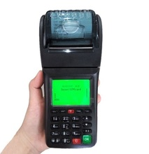 Portable GSM POS Terminal , Wireless GPRS SMS Thermal Printer for Online Orders(China)