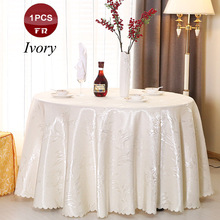 Best Sale 1PC Tablecloths for Wedding Round Rectangular Table Cloth of Hotel Restaurant Party Decoration Textile Factory Supply(China)