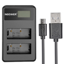 Neewer Portable LED Display USB Dual Battery Charger for Fujifilm NP-W126 Battery for Fuji FinePix HS30EXR X-A1/X-E1/X-E2/X-T1