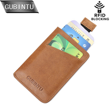 Buy GUBINTU RFID Small Genuine Leather Clutch Wallet Men Credit Card & ID Holders Fame Compact Mini Purse Cash Women Card Holder for $7.49 in AliExpress store