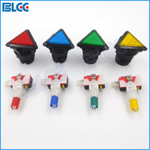 39mm Triangle Arcade Button Switch LED Momentary Lighted Push Button with Microswitch(China)