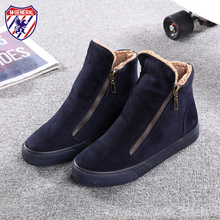 M.GENERAL Women Winter Ankle Boots Warm Cotton Ladies Platform Casual Shoes Woman Zipper Breathable Flat Canvas Shoes M6891