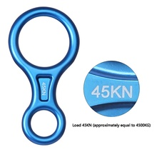 Outdoor 45KN 8 Shape Descender Rock Climbing Carabiners Abseiling Downhill Safety Ring For Device Climbing Equipment(China)