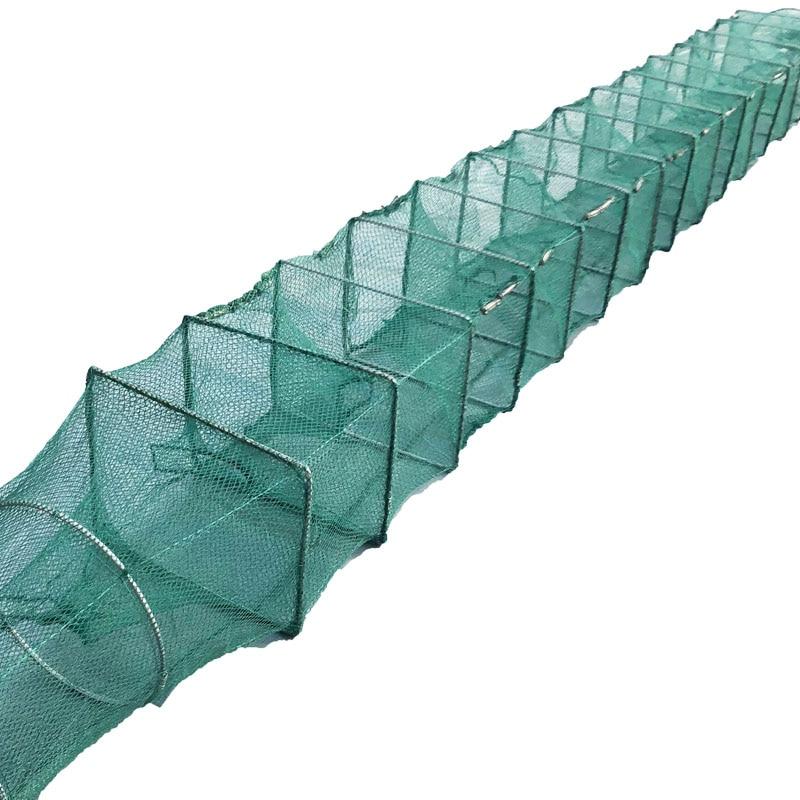 "39/"" Folded Fishing Net Fish Shrimp Minnow Crab Baits Cast Mesh Trap Dip Cage"