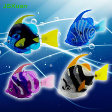 JSXuan New Arrival Funny Swim Electronic Fish Activated Battery Powered Toy Pet for Fishing Tank Decorating Lantern Fish toys