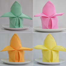 5pcs/lot I cloth color cotton flower napkin folding seats towel lint-free cloth to wipe cup cup fabric home textile table linen