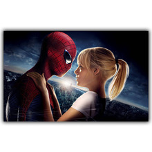 Hot Poster and Emma Stone spider silk fabric picture size 15*24 20*32 22*36 inch family room decoration collection DY035