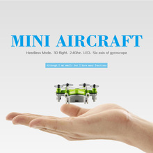 2016 New Smallest Mini Drone FY805 4CH 2.4G 6Axis 360 Degree Roll Drone LED Plane Model 6-Axis Aircraft RC Toys