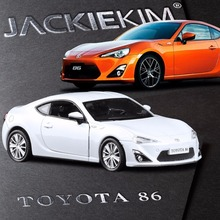 RMZ City 1:36 TOYOTA GT86  Alloy Toy Vehicles Model With Pull Back Car Replica Authorized Coupe Acousto-optic For Kids Toys Gift