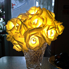 Colorful 2M Rose Flower LED String Light 20LEDs Rose Flowers Lighting Wedding Party Christmas Decoration