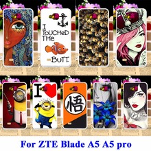 Silicon Covers For ZTE Blade AF3 A3/ZTE Blade A5 A5 pro Case AF 3 C341 T221 Housing Cartoon Yellow Minions Cell Phone Shell Hood