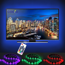 USB LED Strip 5050 RGB TV Background Lighting Kit Cuttable with 17Key RF Controller or Mini 3Key Controller ,1M/2M Set(China)