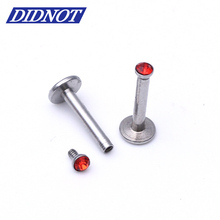 Silver Stainless Steel Crystal Lip Ring Silver Stud Labret Piercing Tragus Piercing Internally Thread Body Piercing Jewelry