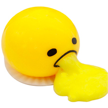 Magic Eggs Vomiting Egg Tricky SlimeToys Squeeze Yolk Can Be Eaten Back Soft Rubber Gag Practical Jokes Vent Fun Toy Gifts
