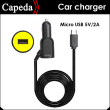 Car charger MICRO USB 5V / 2A 2 in 1 for Car DVR /Tablet PC /Mobile Phone /Action camera SJ4000 SJ5000 SJ6 H9(China)