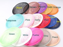 2016 Multiple Color 13CM ROUND SINAMAY Fascinator Base New DIY Women Party Fascinator Hat Base 10pcs/Lot WHolesale(China)