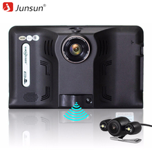 "Junsun Car DVR Camera Recorder Radar 7"" Android 4.4 GPS Navigation 16GB Allwinner A23 Rear View Camera Video Registrar(China)"