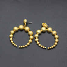 Show field designer earrings matte high quality size metal ball earrings exaggerated banquet ladies 339(China)