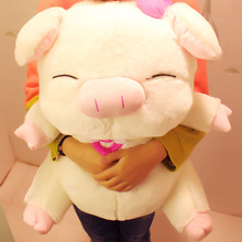 40Cm new arrival lovely angel pig plush toy doll pig shape pillow kawaii birthday gift toy